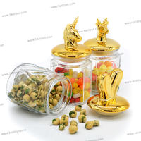 Storage Bottles&Jars Type , hermetic glass storage jar with ceramics cap