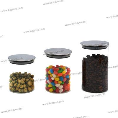 High Borosilicate Glass Storage Jar with SS Lid